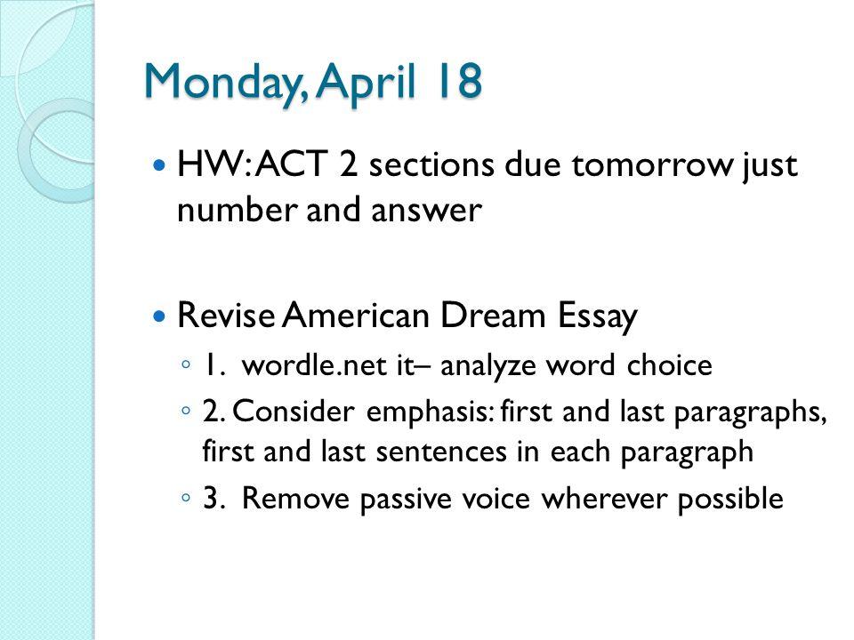 dream act 2 essay