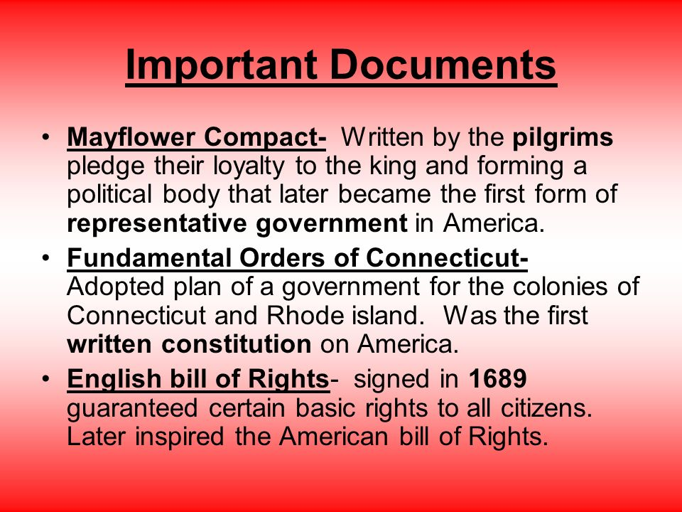 Colonization and the Revolution How it began. Important Places ...