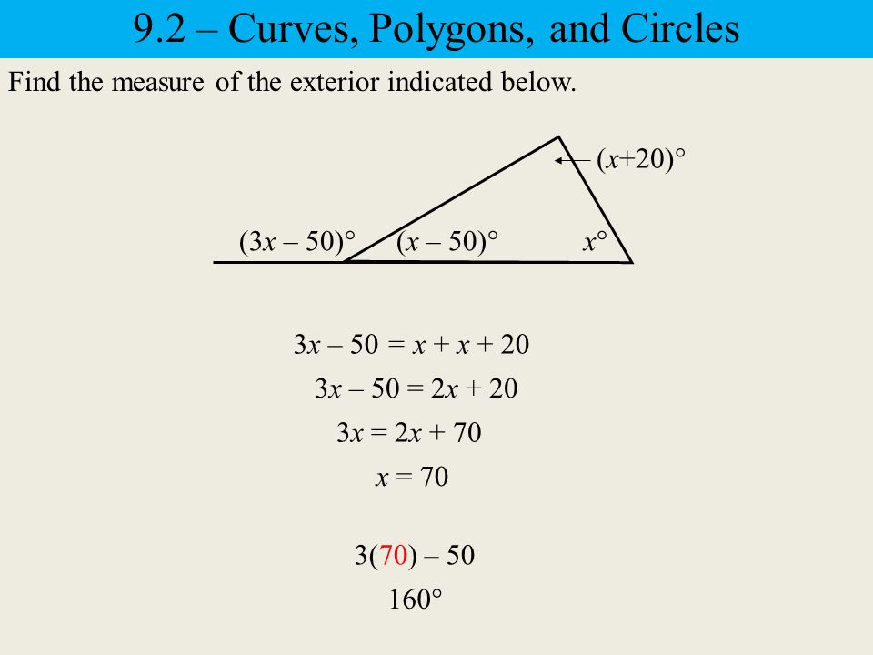 9.2 – Curves, Polygons, and Circles Curves The basic undefined term ...