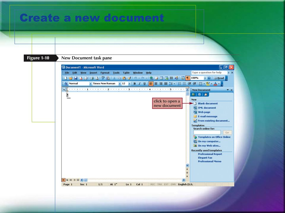 Create a new document
