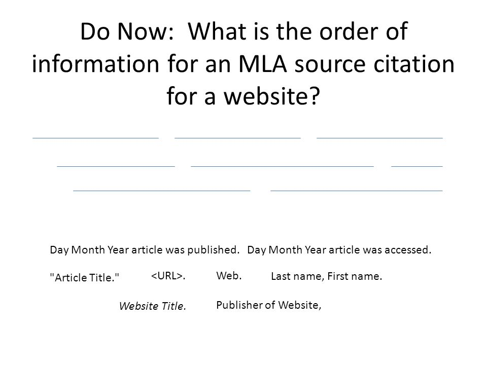 how to do work cited mla format for a website Works cited page when citing a short story that appears in an anthology sweet, kristie how to cite a short story in mla format accessed april 05.