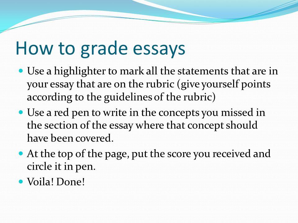 How to grade essays