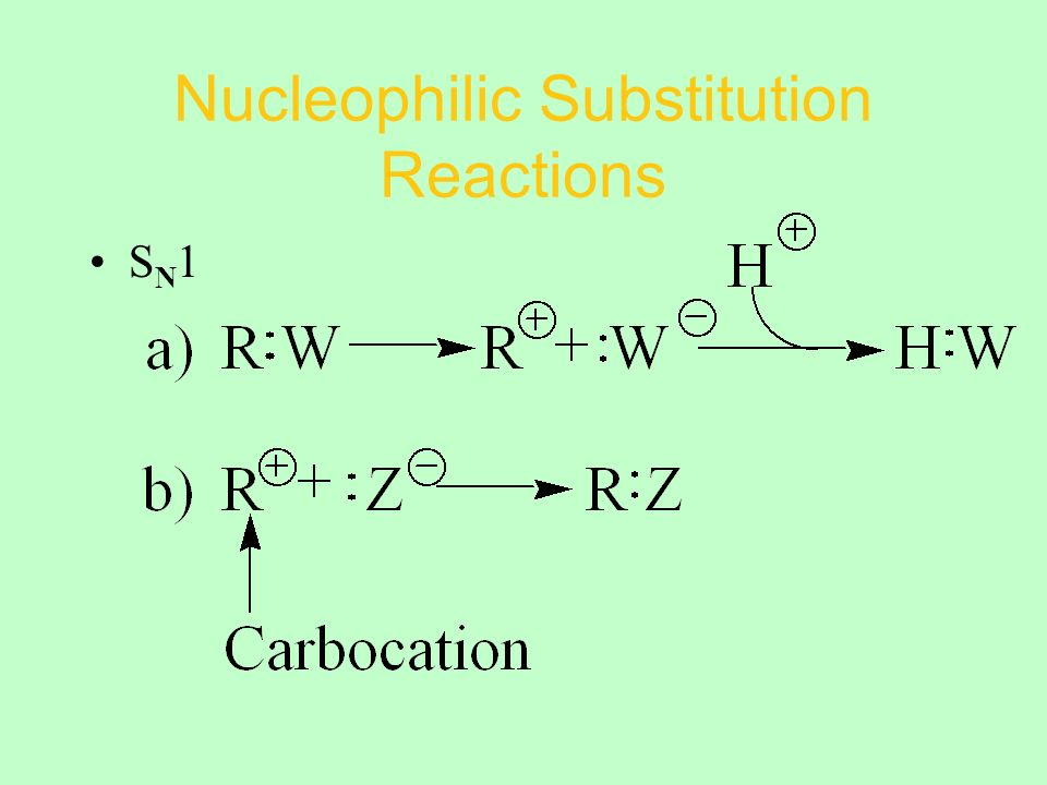 Nucleophilic Substitution Reactions S N 1