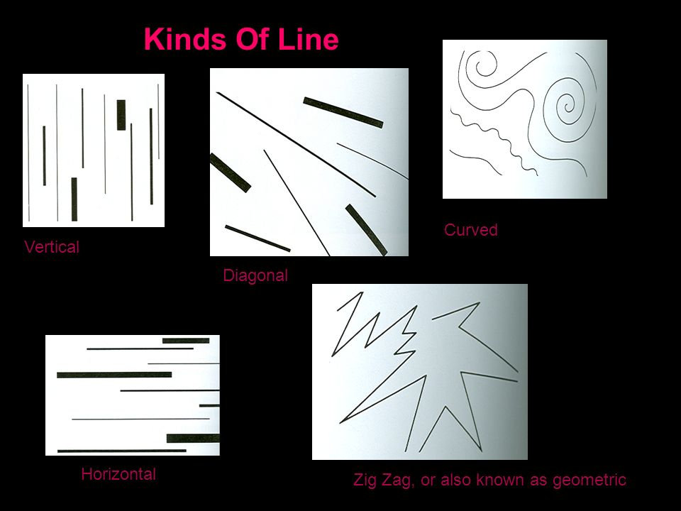 Kinds Of Line Vertical Horizontal Diagonal Curved Zig Zag, or also known as geometric