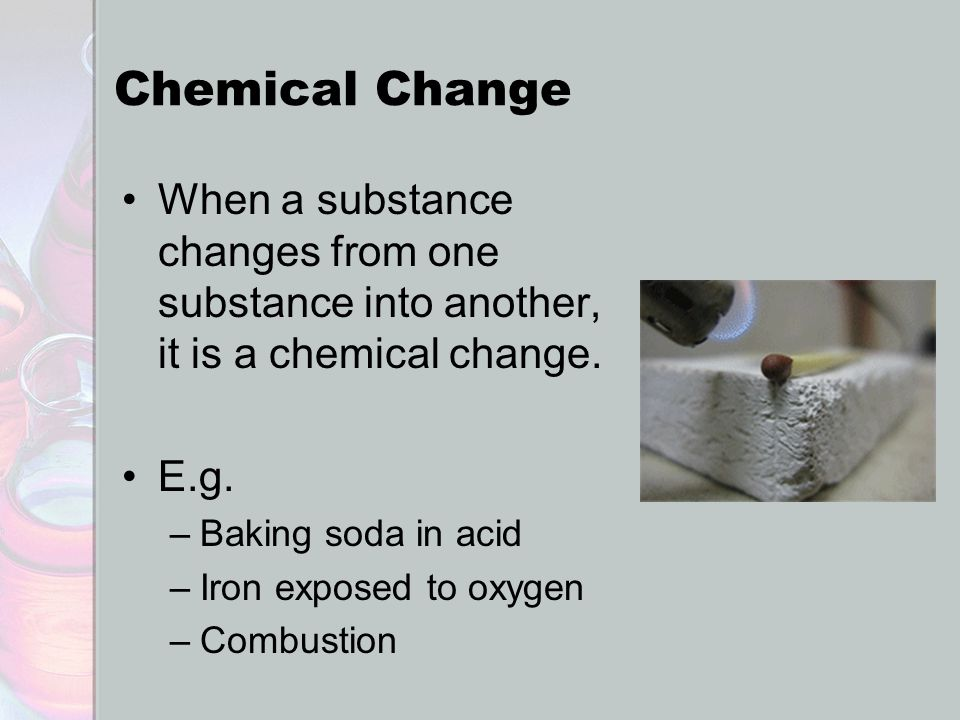 Chemical Change When a Malleability Examples