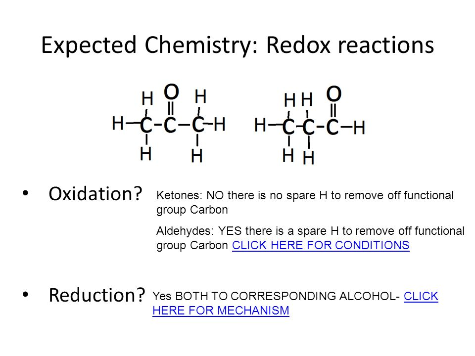 Expected Chemistry: Redox reactions Oxidation. Reduction.