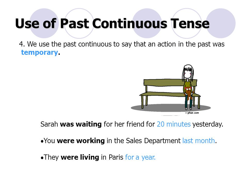 Use of Past Continuous Tense 4.