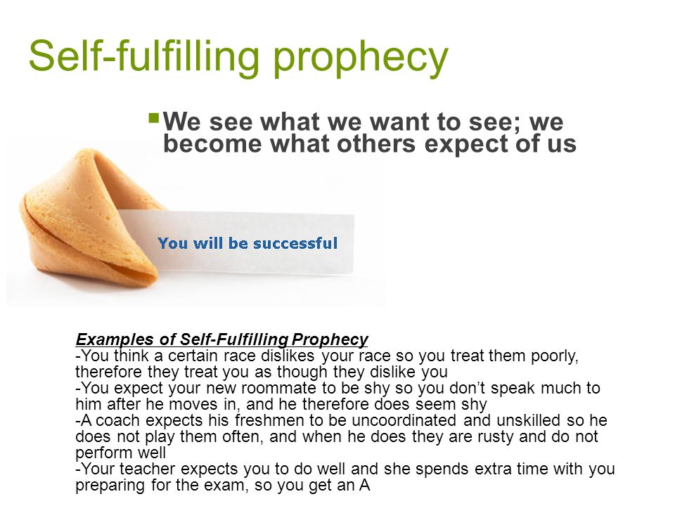 what is self fulfilling prophecy and Self-fulfilling prophecies: mechanisms, power, and links self-fulfilling prophecies occur when a self-fulfilling prophecy is a false belief that leads to.
