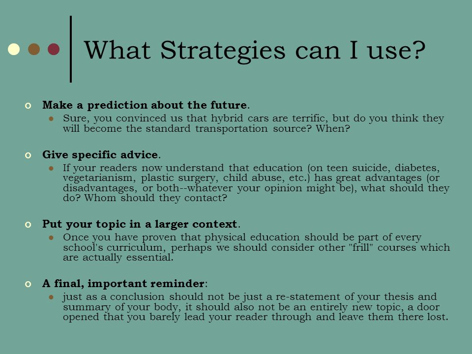 What Strategies can I use. Make a prediction about the future.