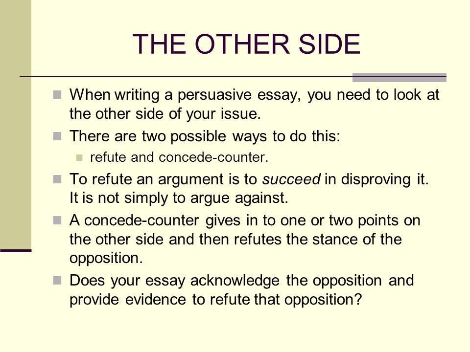 Refutation Essay Topics