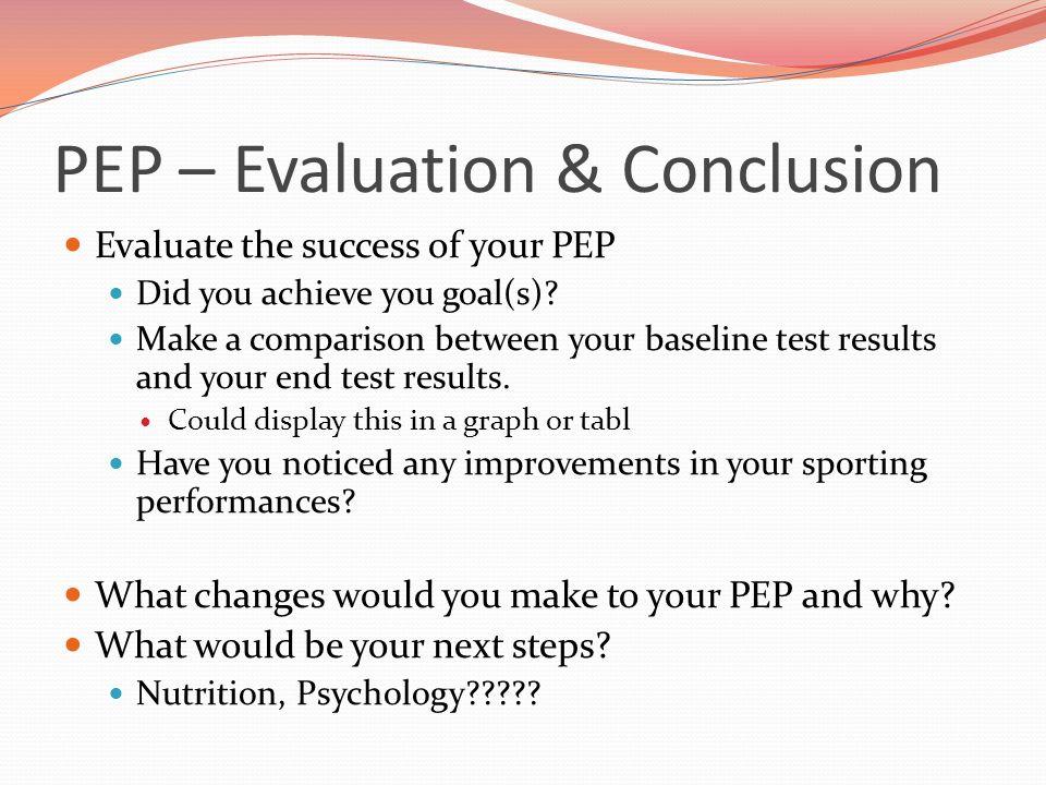 gcse pep coursework