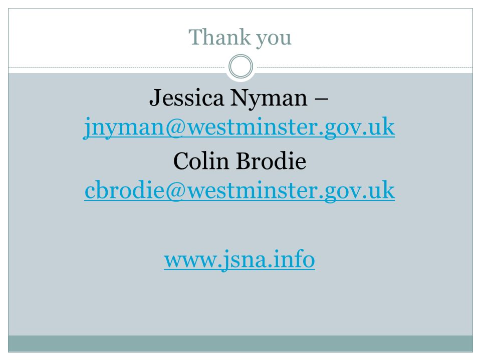 Thank you Jessica Nyman –  Colin Brodie