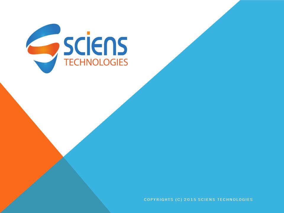 COPYRIGHTS (C) 2015 SCIENS TECHNOLOGIES