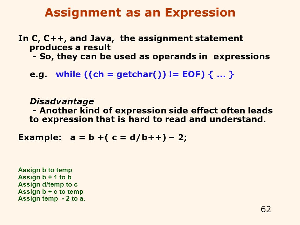 How to abbreviate assignment