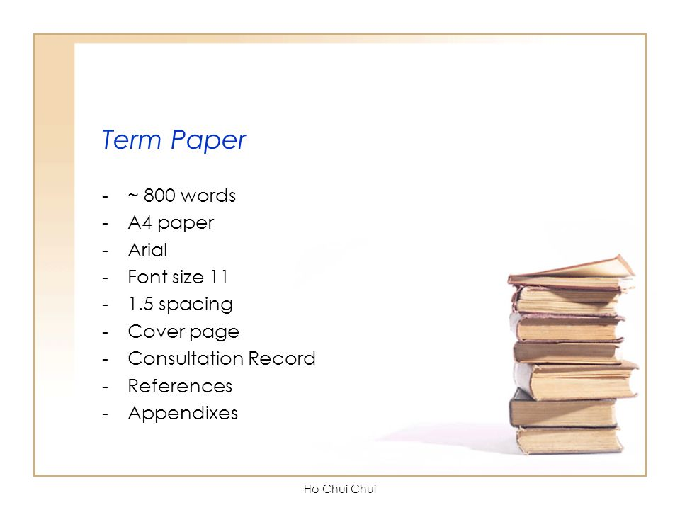 ho to term paper