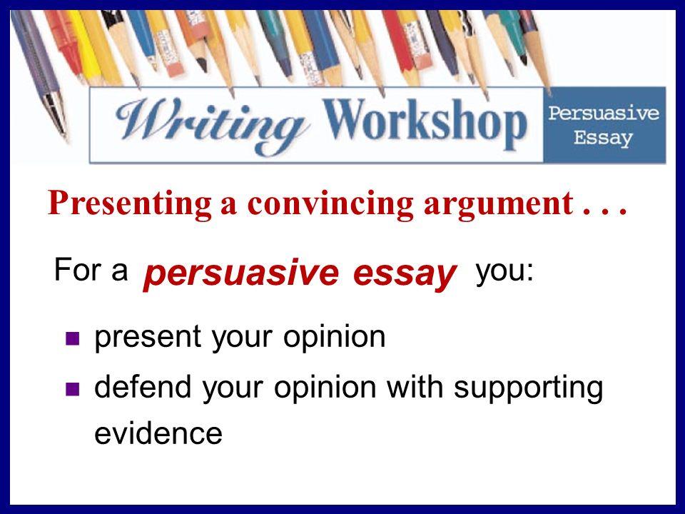 Persuasive Argument Essay Topics