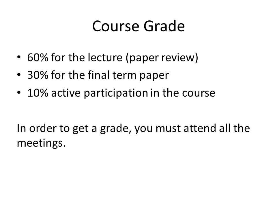 term paper topic