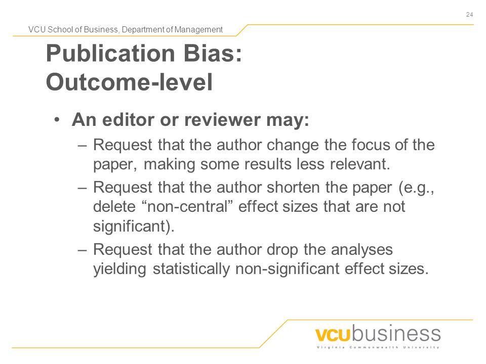 1 VCU School of Business, Department of Management Publication ...