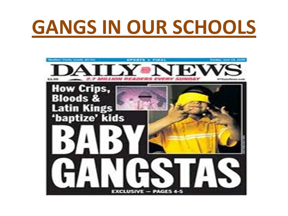 Gangs In Our Schools What Is A Street Gang Three Or More People