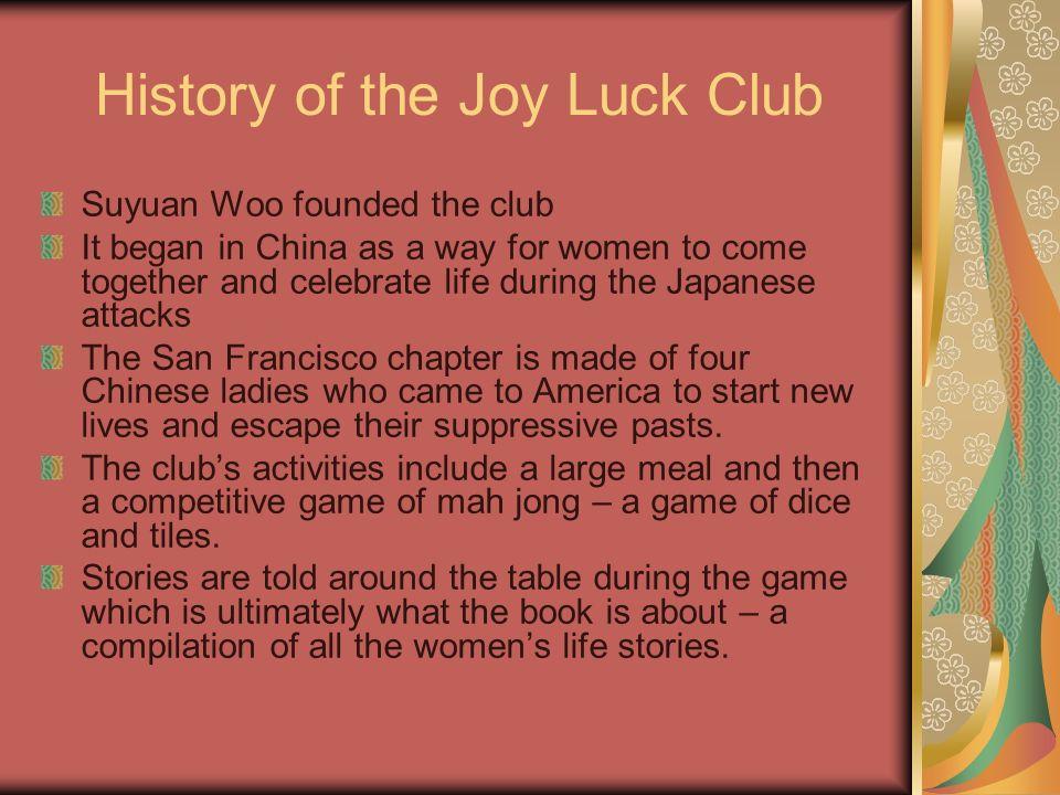 the joy luck club by amy tan summary