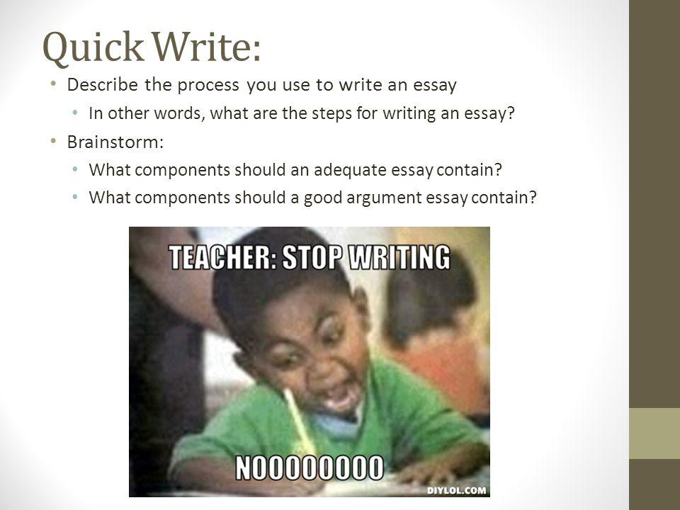 A Good Argument Essay
