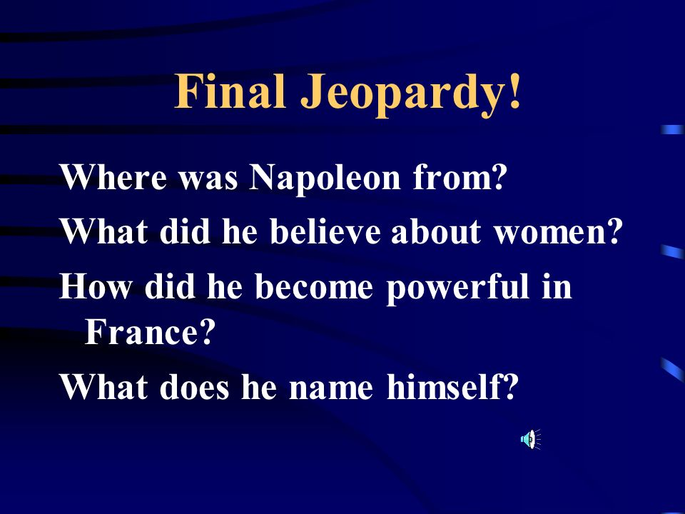 Final Jeopardy.