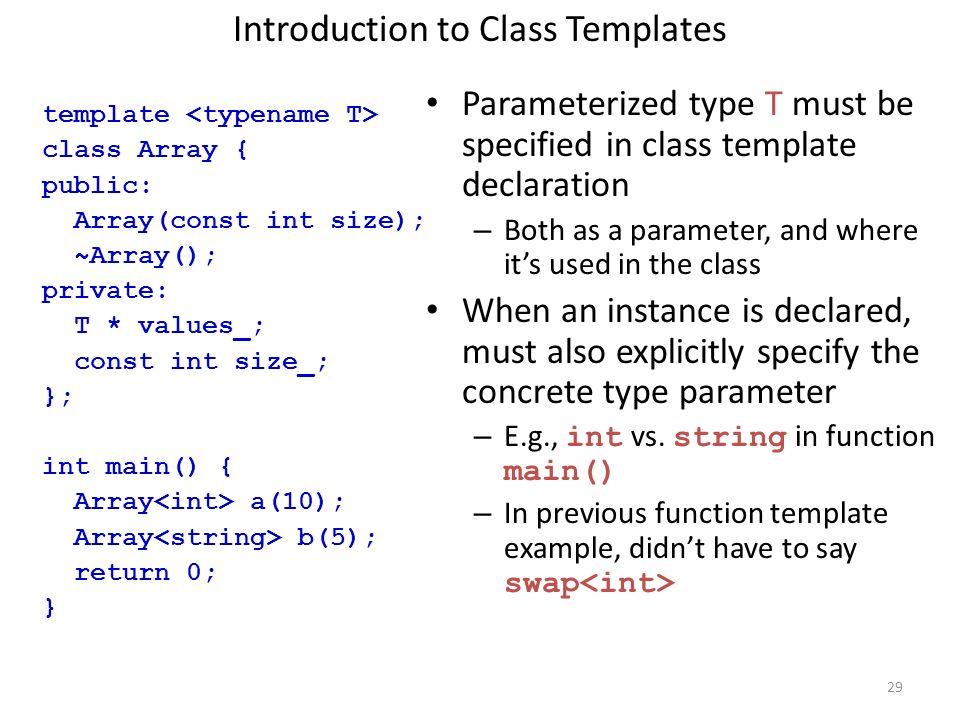 Templates & STL 1.Generic Programming 2.C++ Templates 3.Function ...