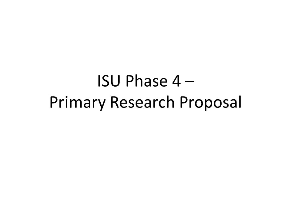 Develop a Research Proposal   Writing the Proposal