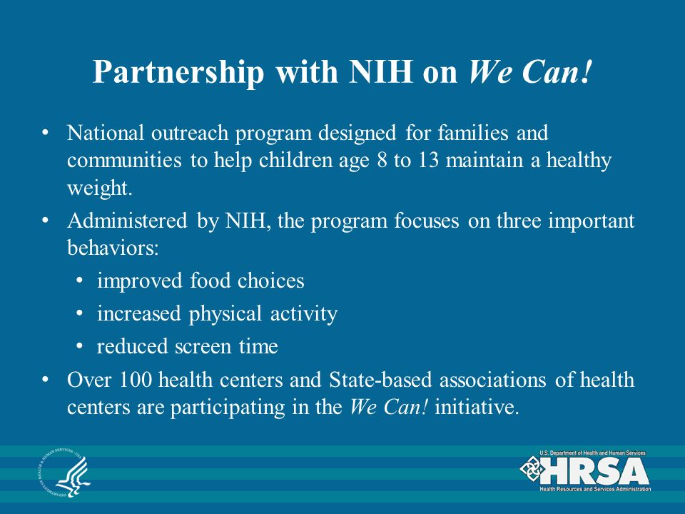 Partnership with NIH on We Can.