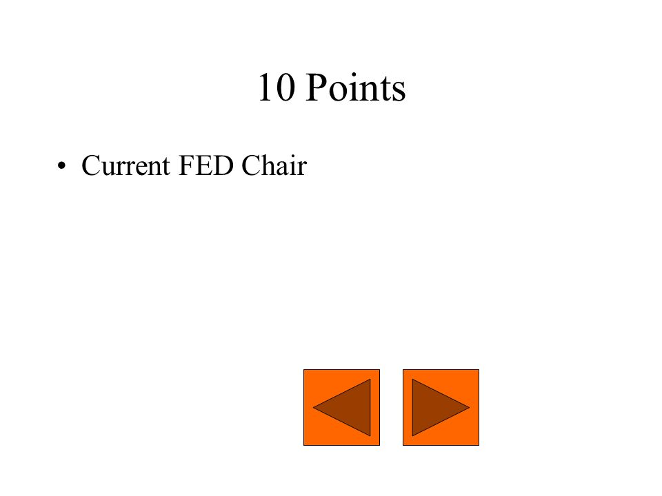 10 Points Current FED Chair
