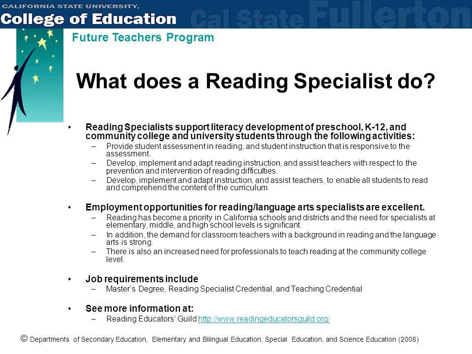 reading specialist job description - Vatoz.atozdevelopment.co