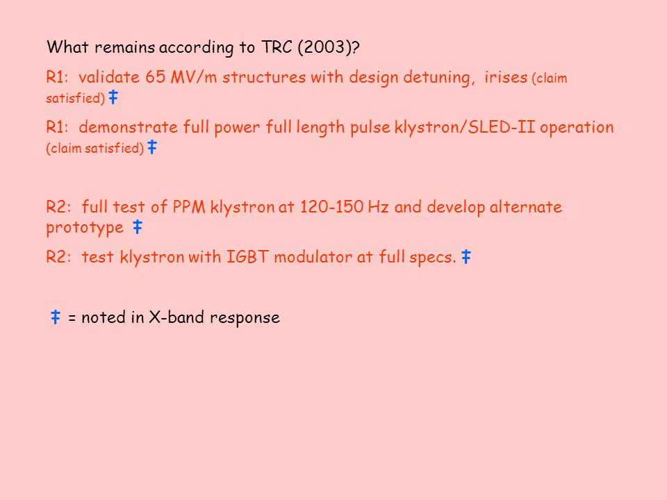 What remains according to TRC (2003).