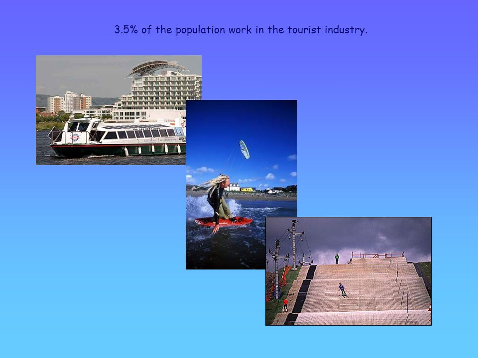 3.5% of the population work in the tourist industry.