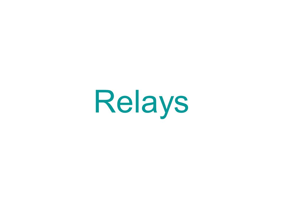 THE RELAY A Relay is an electromagnetic switch A Relay is
