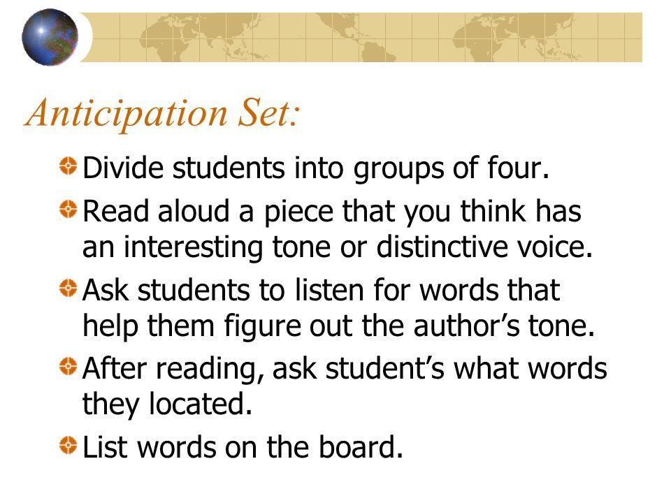 Distinctive voice essay