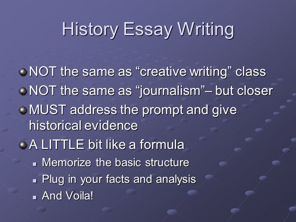 history essasy Researchomatic is the largest e-library that contains millions of free history essay topics & history essay examples for students of all academic essay on history.