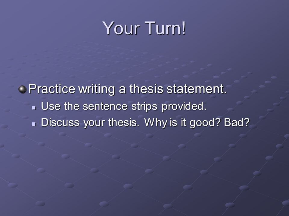 What Is The Thesis Statement In The Essay