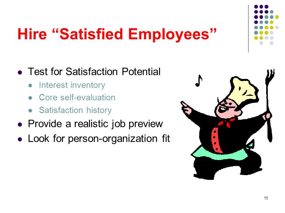 dissatisfied employee