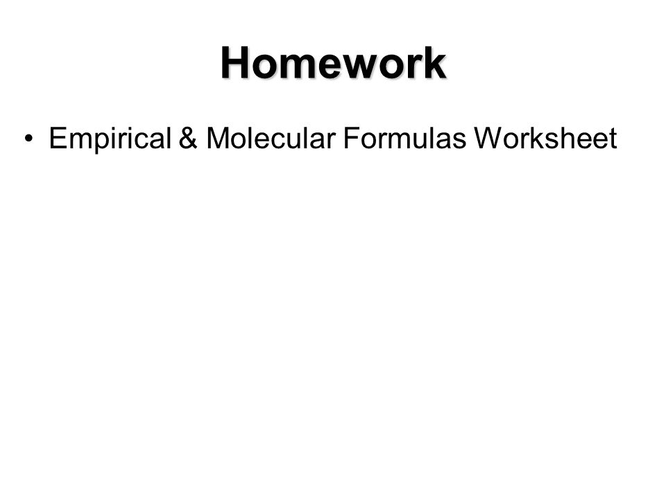 Empirical And Molecular Formula Worksheet Delibertad – Empirical Formula Worksheet with Answers