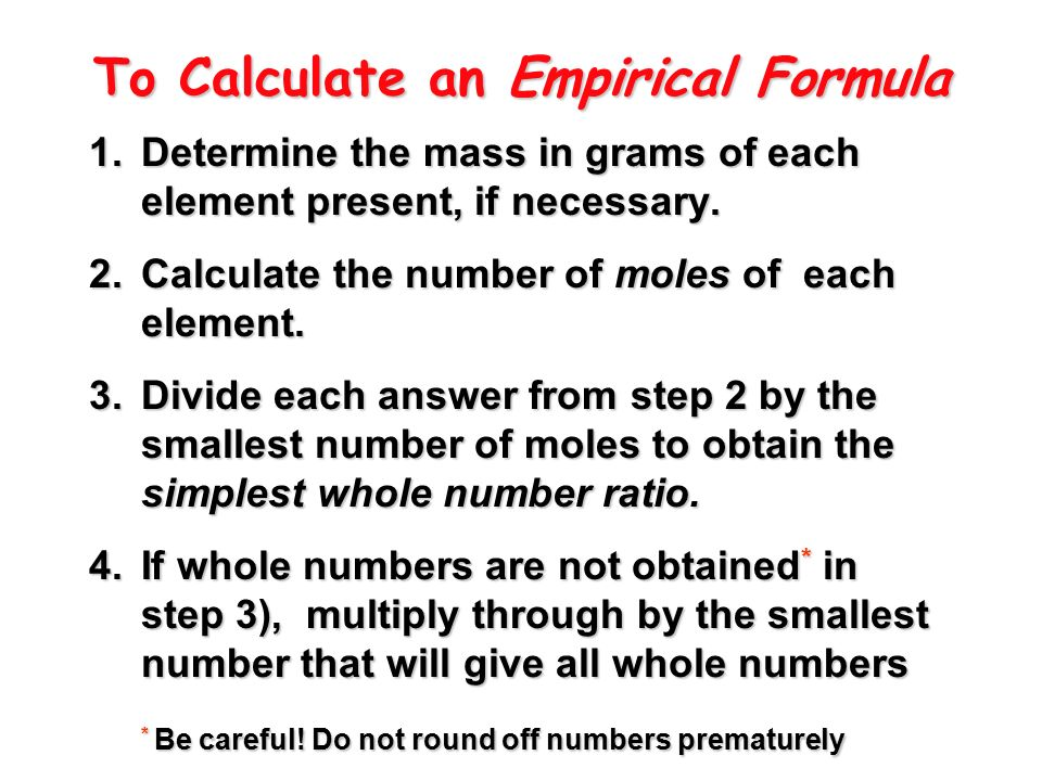 Printables Empirical And Molecular Formula Worksheet chapter 8 empirical molecular formulas types of the to calculate an formula 1 determine mass in grams each element present