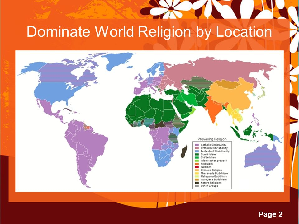 Page Major World Religions Buddhism Christianity Hinduism - World religion map judaism