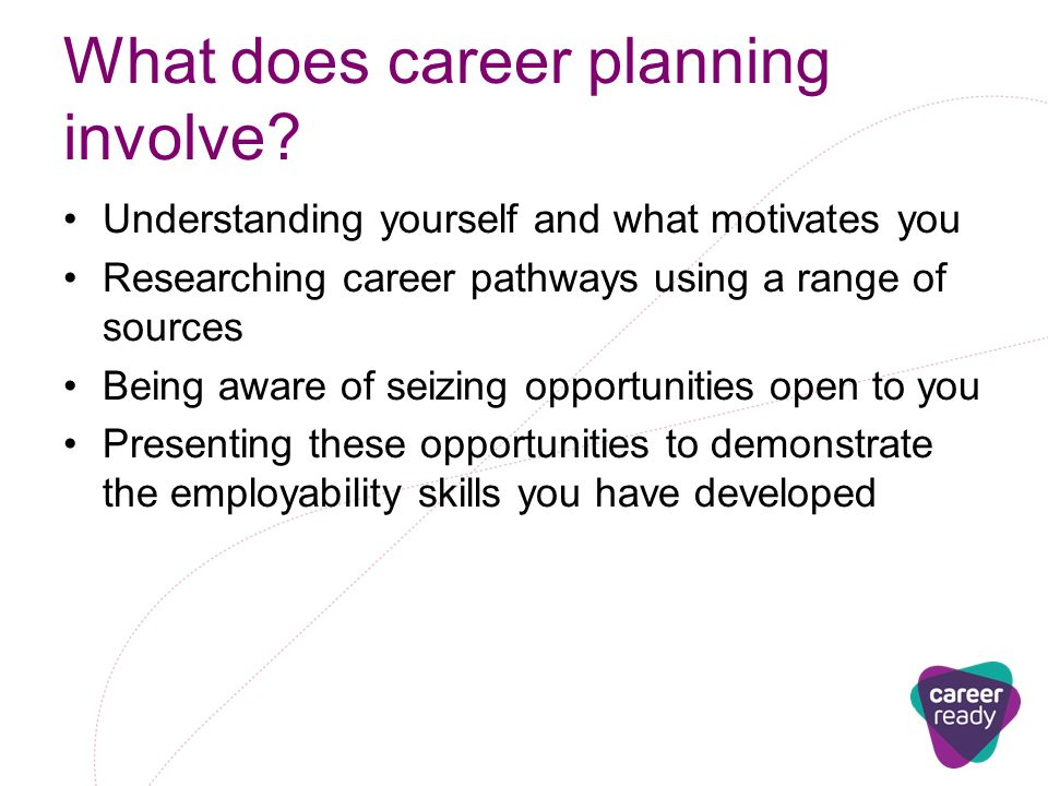 What does career planning involve.