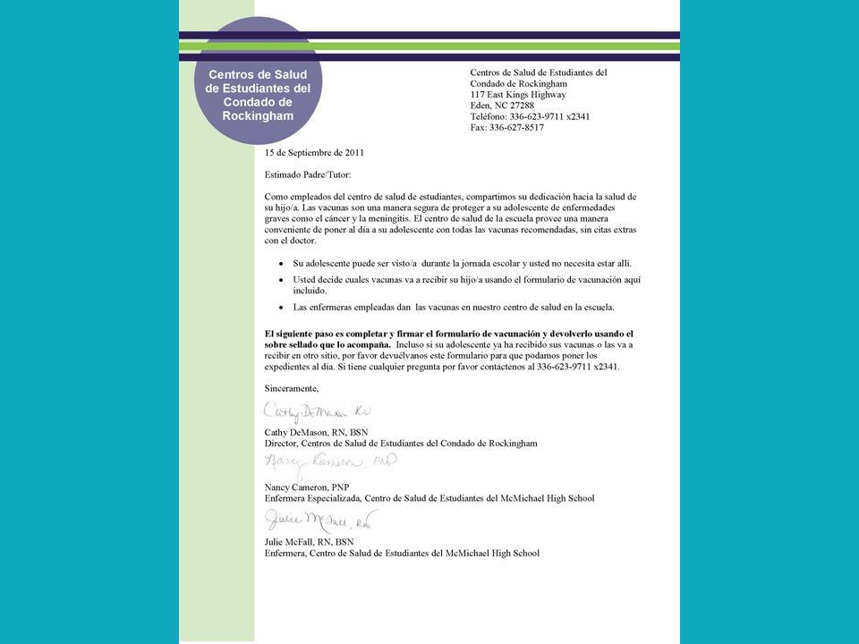 INCREASING UPTAKE OF ADOLESCENT VACCINES IN NC SCHOOL HEALTH CENTERS ...
