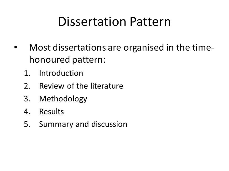 Literature Based Dissertation Methodology