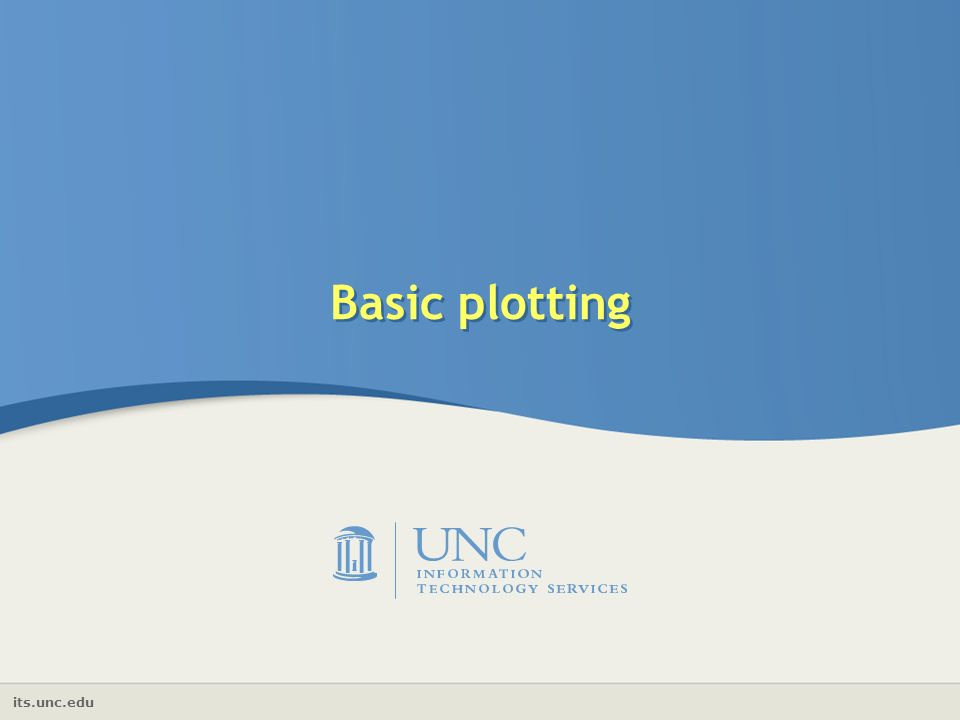 its.unc.edu Basic plotting