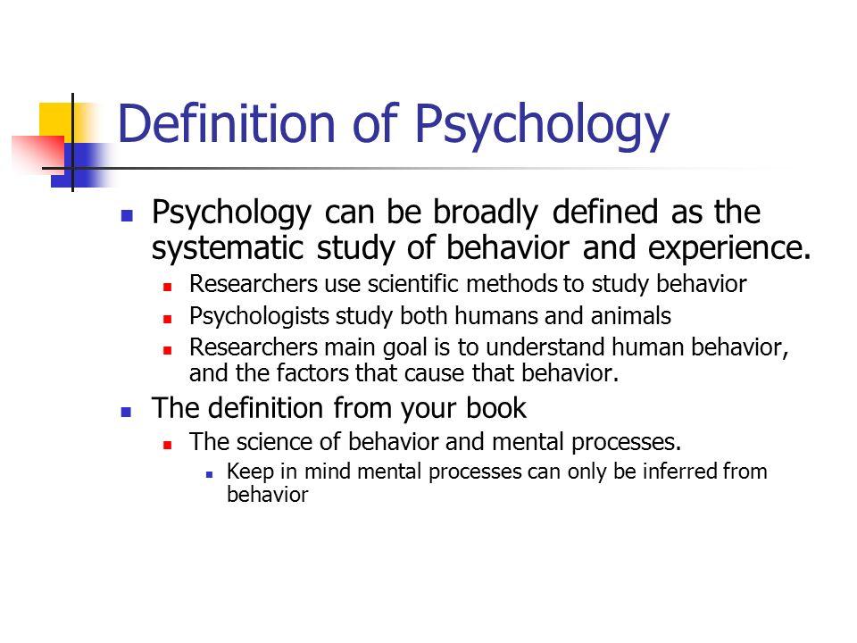 definition of psychology essay