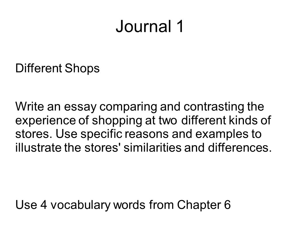 Two kinds of essay