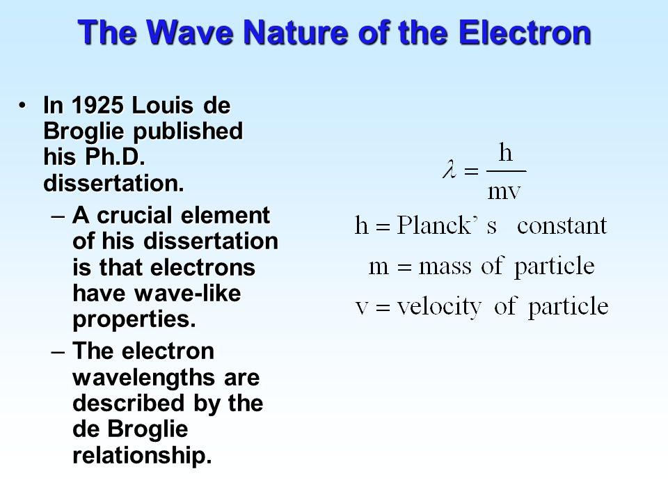 De broglie phd thesis length