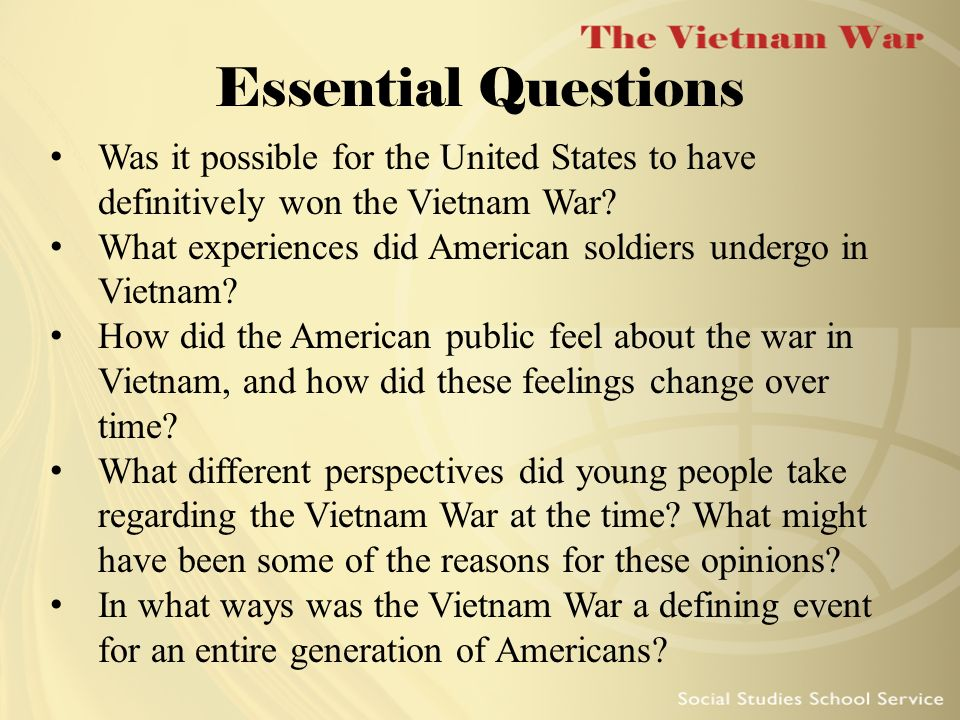 What affects did the Vietnam War have on the U.S.?