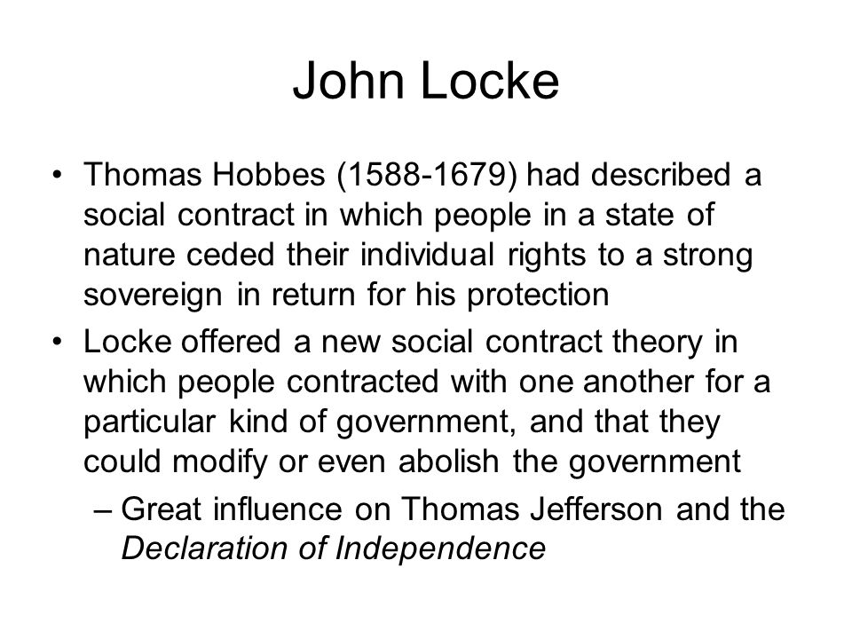 social contract theory of john locke 3 essay By far the most influential writings emerged from the pen of scholar john locke locke embraced the labor theory locke's byline did appear with an essay.